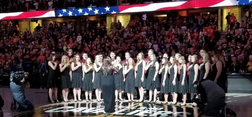 Choir at Cavs game