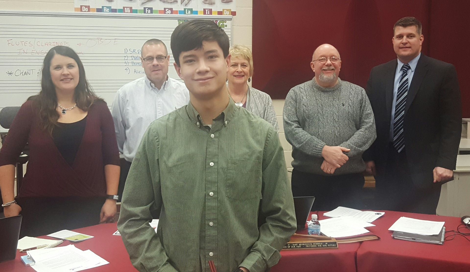 Bennett Van Horn, JGHS senior, was recognized at the February Board of Education meeting as a Martin Luther King Jr. scholarship recipient