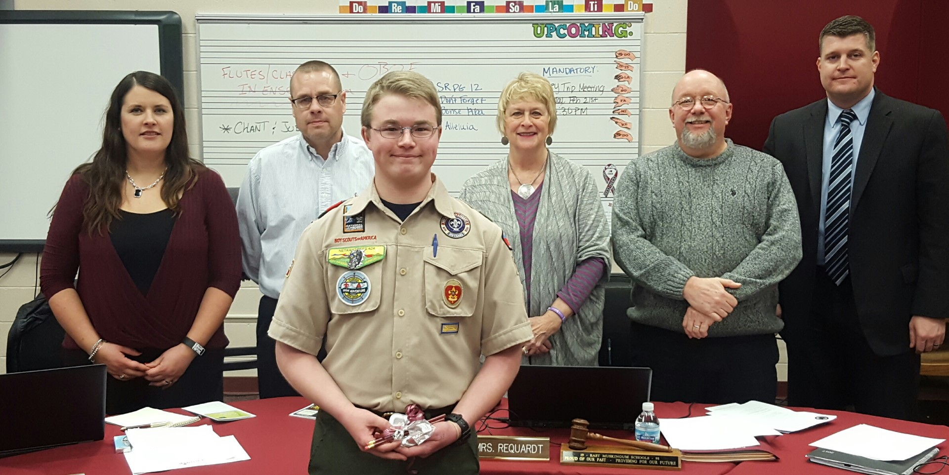 Connor Moore - a JGHS sophomore was recognized at the February Board of Education meeting as an Eagle Scout recipient