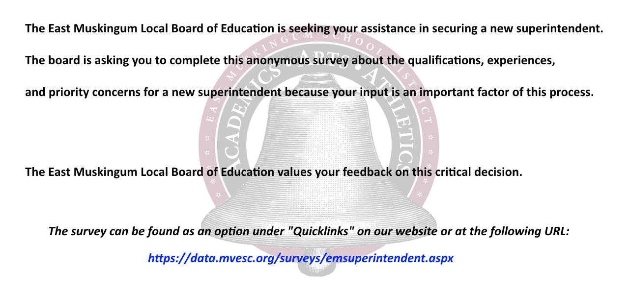 Superintendent Survey Information