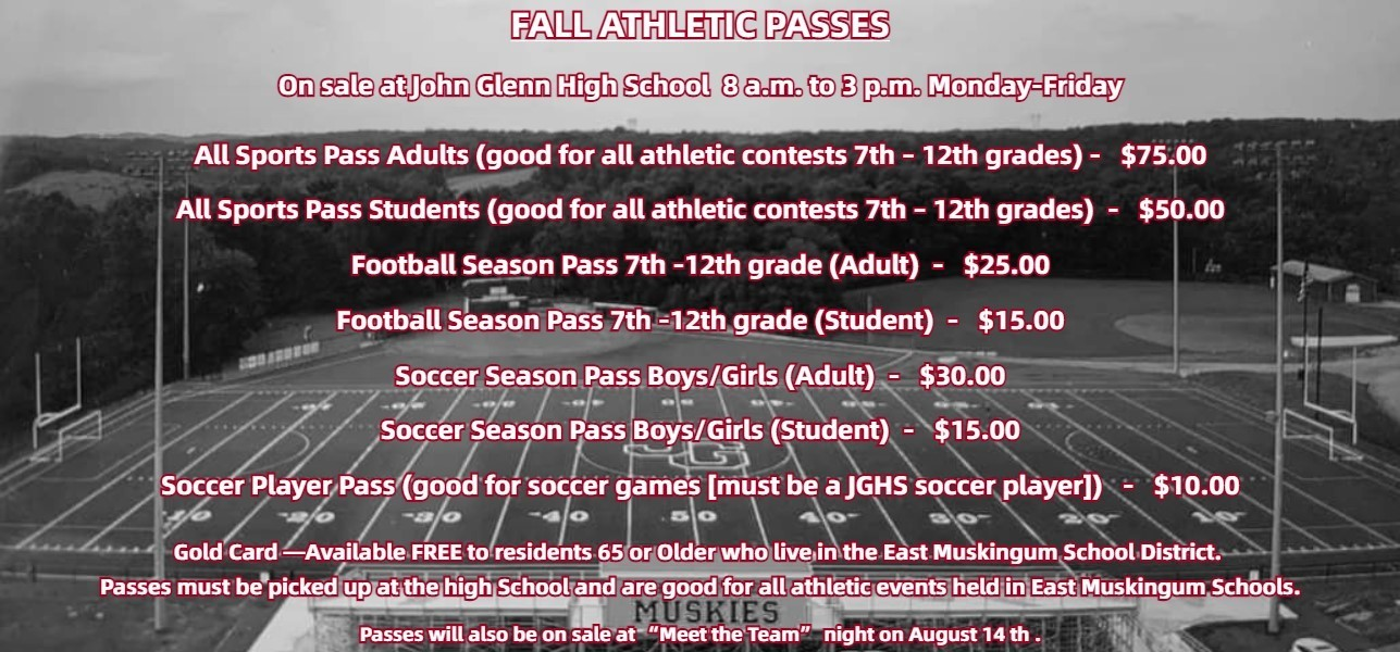 Fall Athletic Pass Info